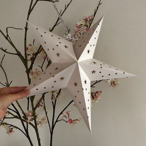 medium white star lantern