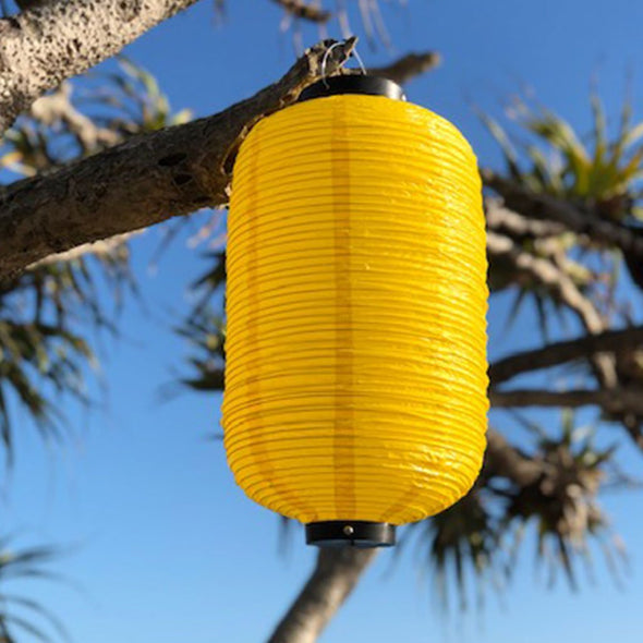 Traditional Yellow Japanese Lantern (24 x 60cm) Vinyl
