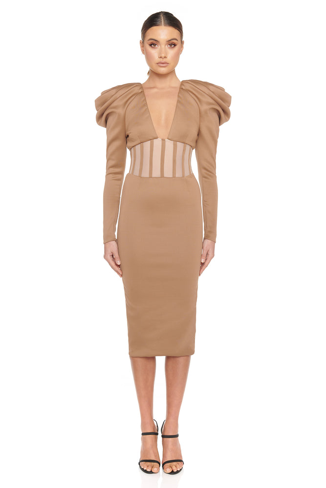 Sherene Dress | Nude