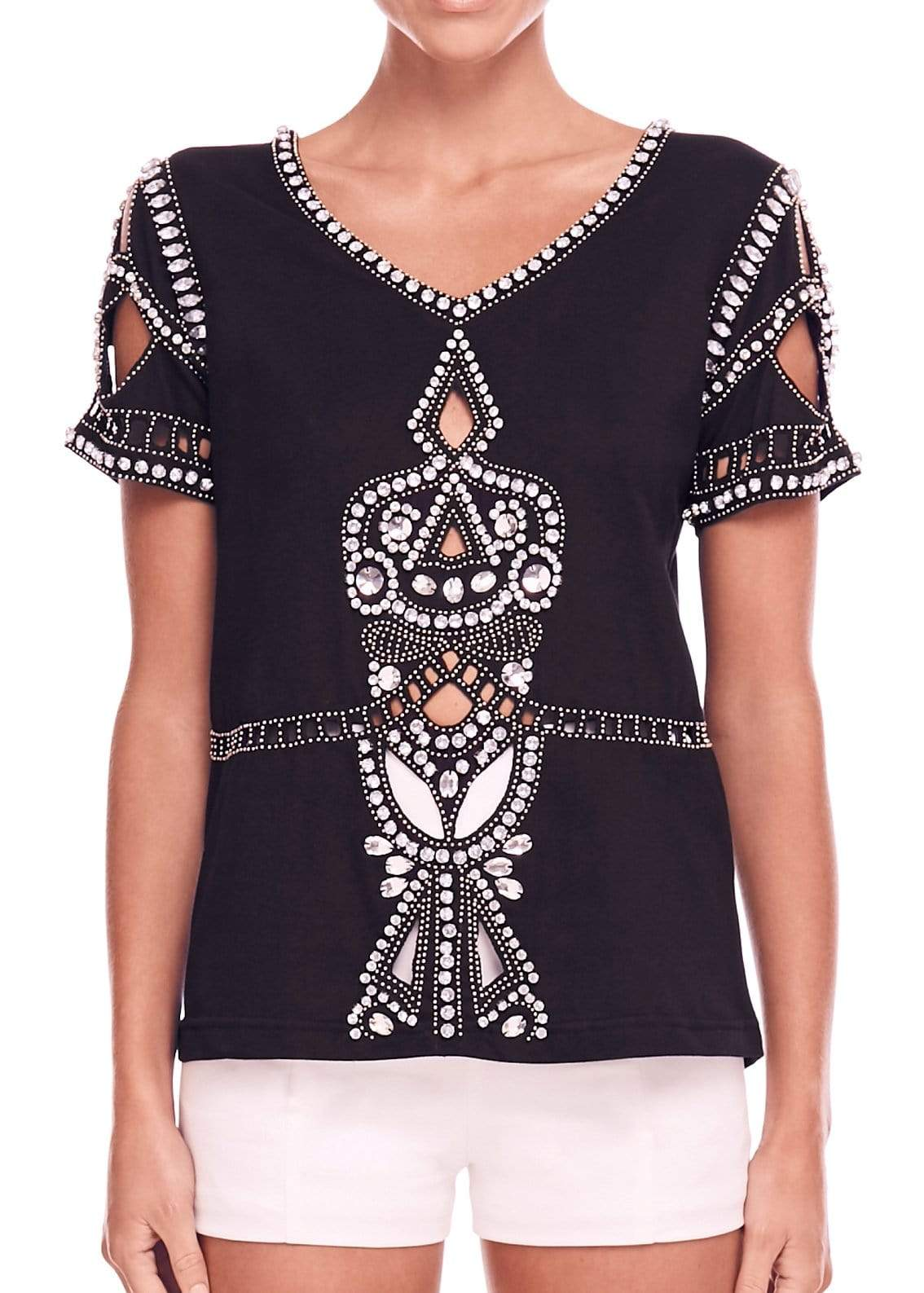 AVENTOR BEADED TEE - ELIYA THE LABEL