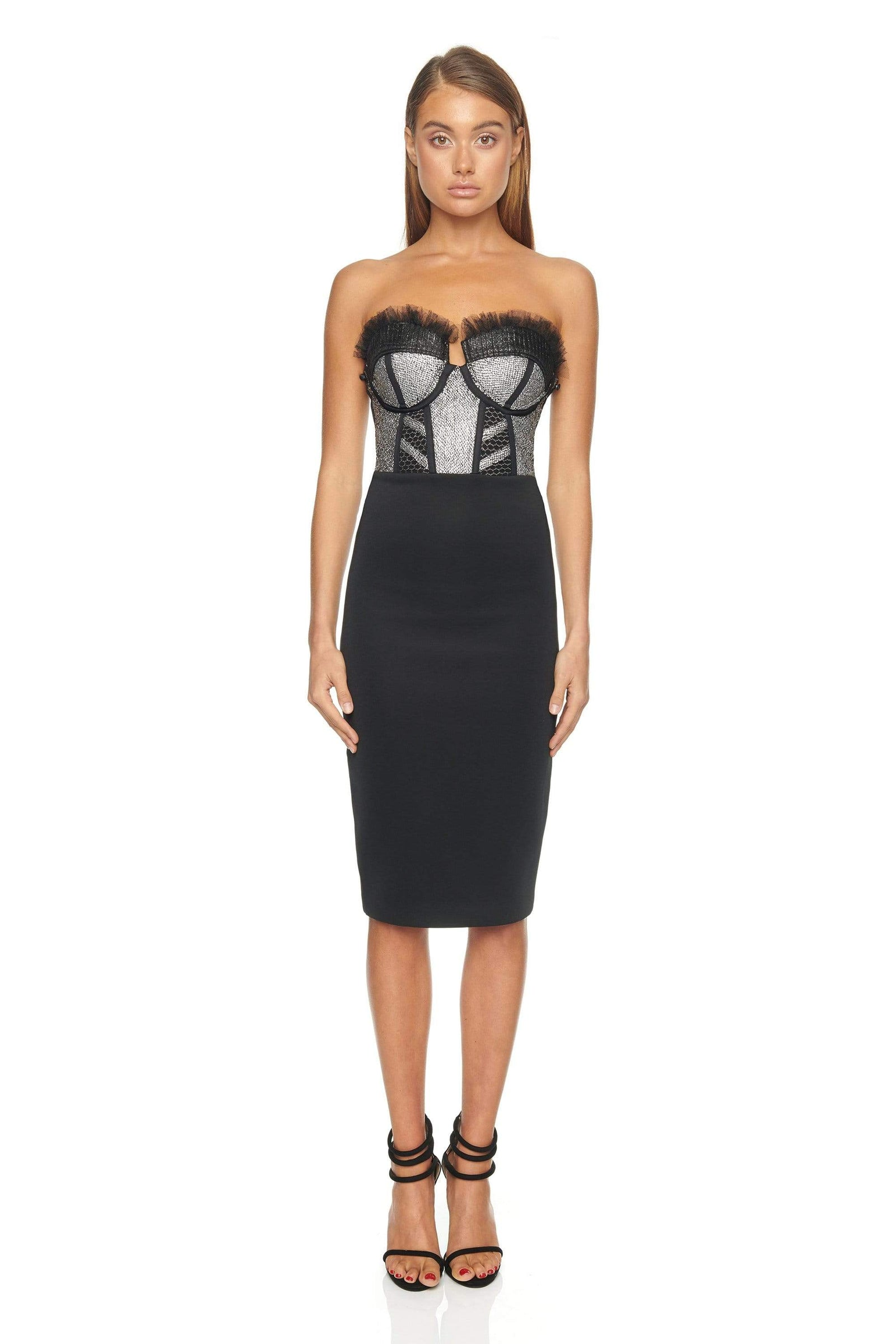 CELINE DRESS WITH DETACHABLE SLEEVES - ELIYA THE LABEL