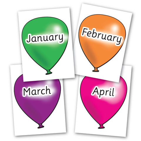 Month of the Year Balloons