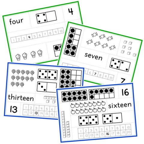 Number Recognition Puzzle Pieces - 1-20