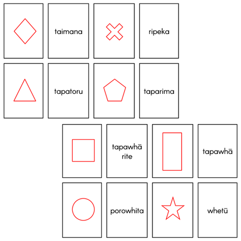 Matching Picture / Word Card Activities - Shapes