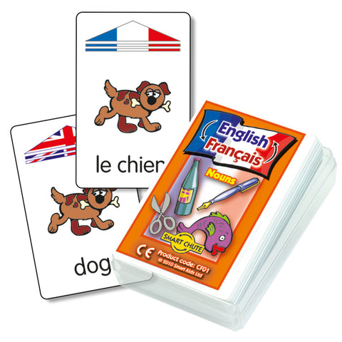 French Noun Chute Cards