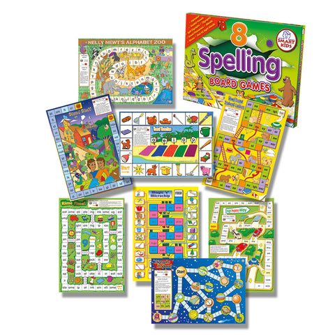 Eight Spelling Board Games