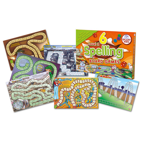 6 Spelling Board Games Level 2