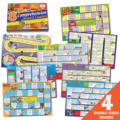 8 Reading Comprehension Board Games
