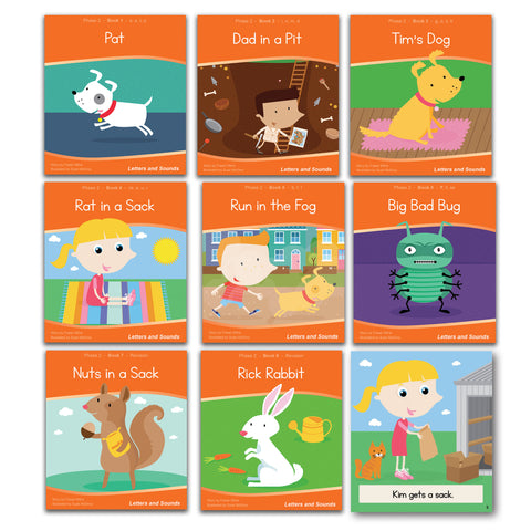 Phase 2 Decodable Readers - Guided Reading (48 books)