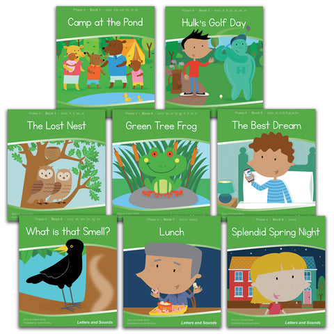 Phase 4 Decodable Readers - Guided Reading (48 books)