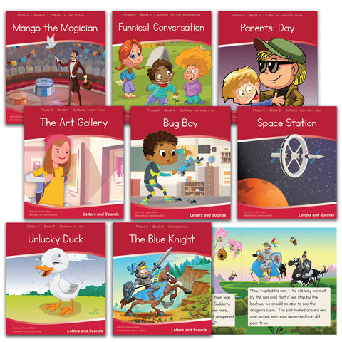 Phase 6 Decodable Readers - Guided Reading (48 books)