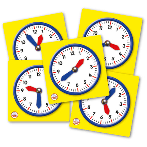 Set of 5 Student Clocks