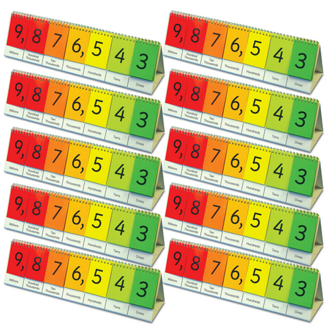 Place Value Flip Stand - Set of 10