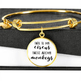 This Is My Circus - Gold/Silver Round Bracelet - White