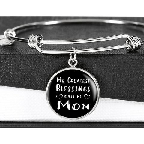 My Greatest Blessings - Gold/Silver Round Bracelet - Black