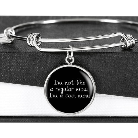 Not Like A Regular Mom - Gold/Silver Round Bracelet - Black