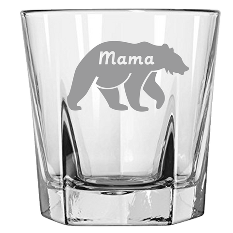 Mama Bear - Rock Glass