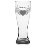 Heart Wings (Personalized) - Pilsner Glass
