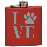 Love Paw Print - Flask