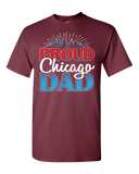 Proud Chicago Dad - Dark - Adult Unisex T-Shirt