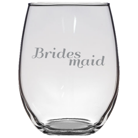 Brides Maid - Stemless Wine Glass
