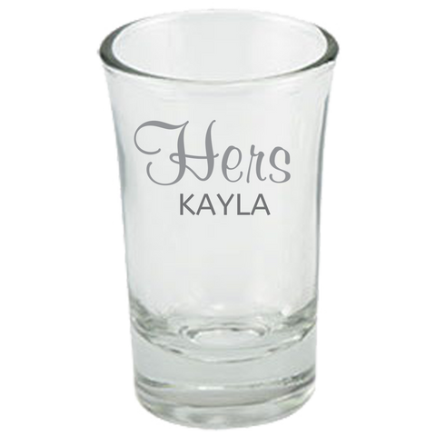 Hers (Personalized) - Dessert Shot Glass
