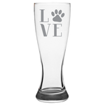 Love Paw Print - Pilsner Glass