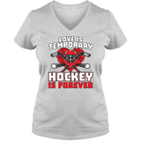 Love Is Temporary - Light - Ladies V Neck Tee
