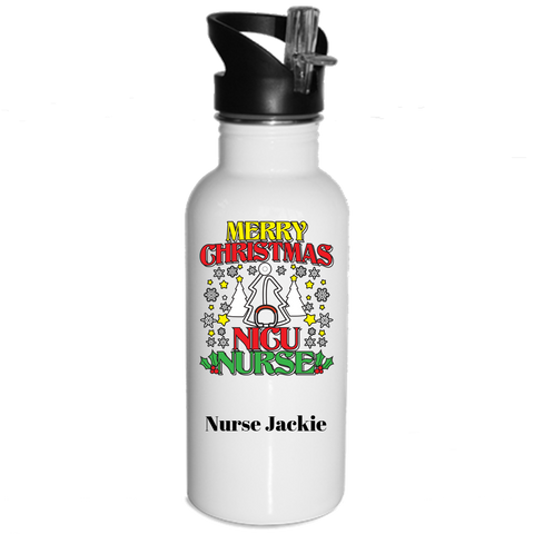 Merry Christmas NICU Nurse - Water Bottles