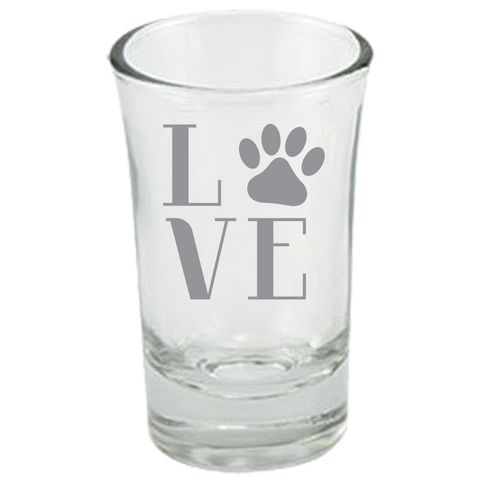 Love Paw Print - Dessert Shot Glass