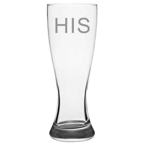 His - Pilsner Glass