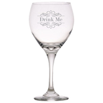 Drink Me - Red Wine Glass