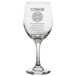 Celtic Knot Irish Blessing (Personalized) - White Wine Glass