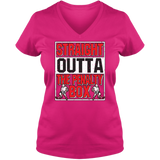 Straight Outta The Penalty Box - Light - Ladies V Neck Tee
