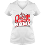 Chicago Is Calling Me Home - Light - Ladies V Neck Tee