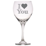 I Heart You - Red Wine Glass