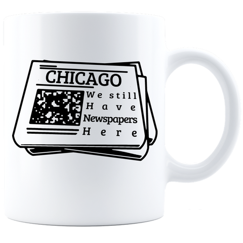 Newspapers in Chicago Coffee Mug - White