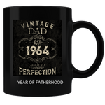 Vintage Dad Coffee Mug Black Personalized