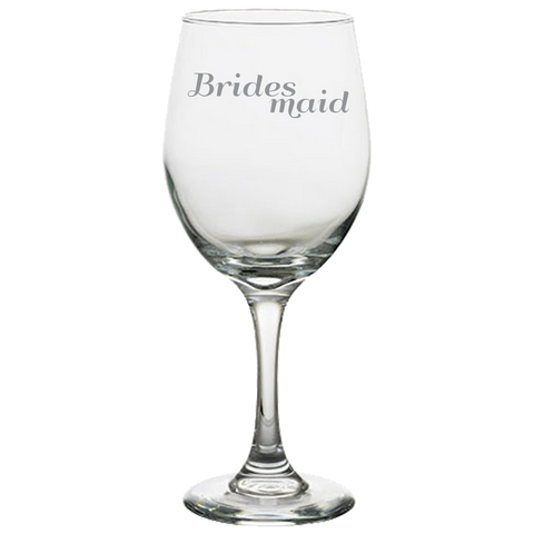 Brides Maid - White Wine Glass