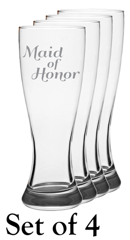 Maid Of Honor - Pilsner Glass - Set of 4