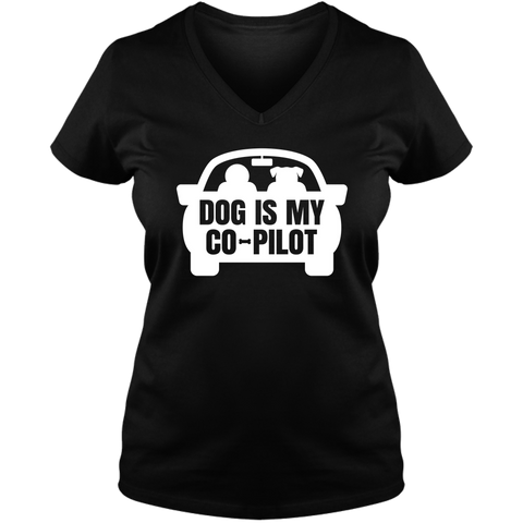 Dog is My CoPilot - Ladies V Neck Tee