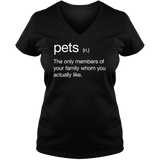 Pets Definition - Ladies V Neck Tee
