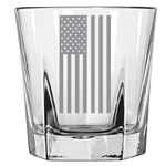 American Flag Vertical - Rock Glass