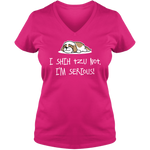 Shih Tzu Not - Ladies V Neck Tee