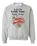 Family Holiday Adult Crewneck Sweat Shirt