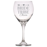 Bride Tribe (Personalized) - Red Wine Glass
