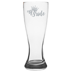 Bride Crown - Pilsner Glass