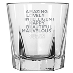 Mother Amazing Lovely Intelligent (Personalized) - Rock Glass