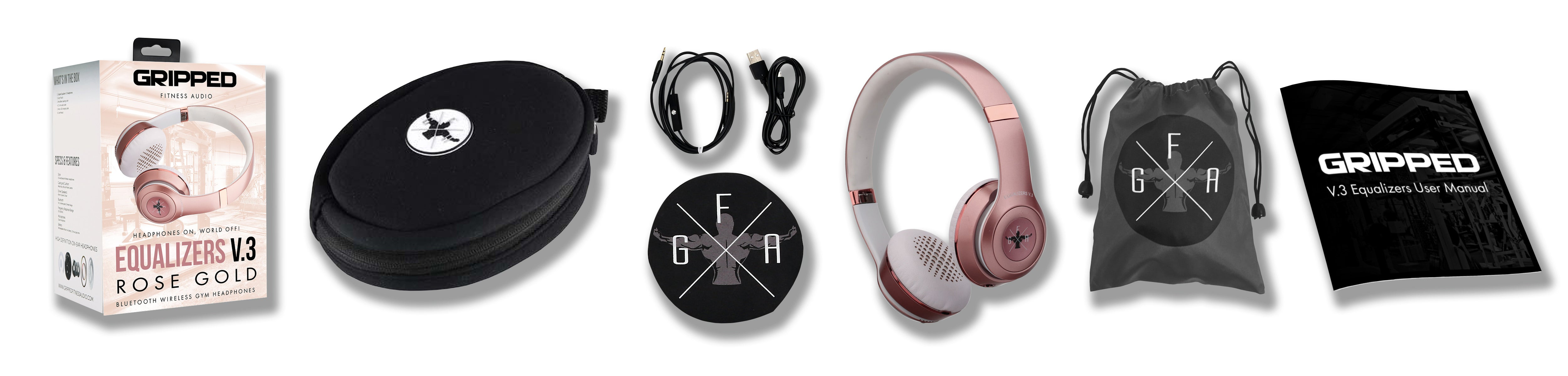 Wireless Gym Headphones Equalizers V.3 Rose Gold