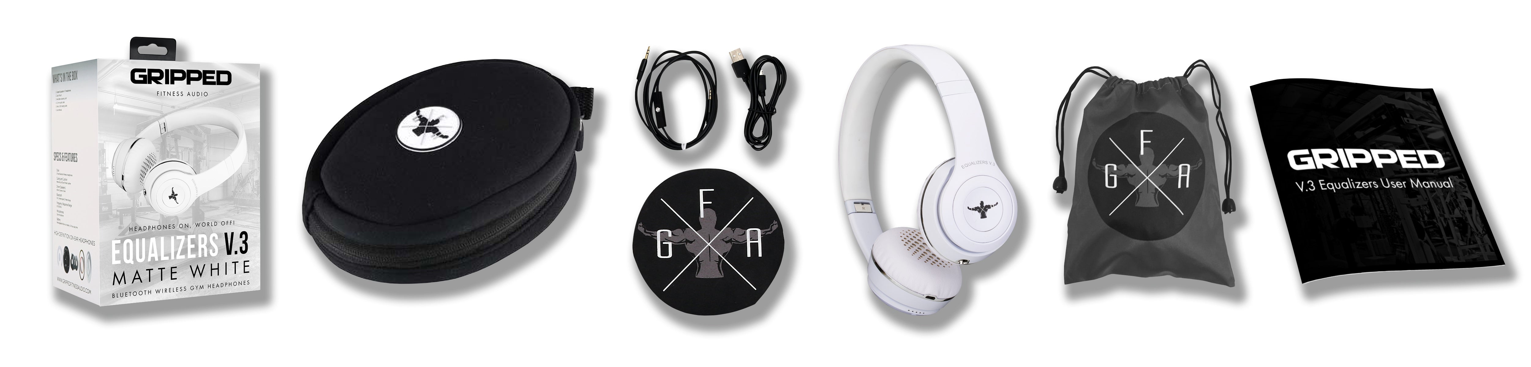 Wireless Gym Headphones Equalizers V.3 Matte White